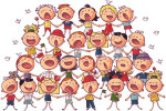 children сhoir singing vector illustration